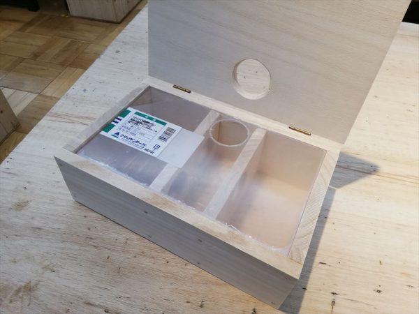 ハムスターの手作り巣箱が完成その2